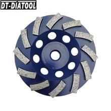 DT-DIATOOL 1pc 5/8-11 Dia 115mm/4,5 inch Diamant Segmentiert Turbo Reihe Tasse Schleifen Rad Für beton Harten Stein Granit Marmor