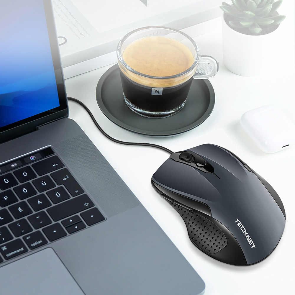 TeckNet Pro S2 Muis Bedrade USB Muis voor Computer PC Muis 2000DPI 1000DPI Ergonomische Muis Vorm 6 Knoppen muizen voor Asus Xiaomi