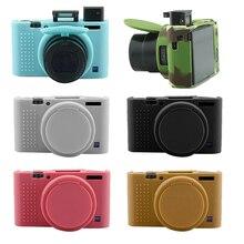 ซิลิโคนแบบพกพาสำหรับ Sony RX100M3 RX100M4 RX100M5 RX100 III RX100 IV RX100 V กระเป๋ากล้องอุปกรณ์เสริม