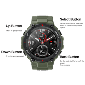 Image 5 - In stock 2020 CES Amazfit T rex T rex Smartwatch 5ATM waterproof Smart Watch GPS/GLONASS AMOLED Screen for iOS Android