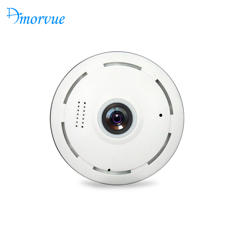 Amorvue Wifi IP Camera 360 Degree Fisheye Lens Panoramic Dome Camera 960P CCTV Night Vision Security Camera Support TF Card-in Surveillance Cameras from Security & Protection