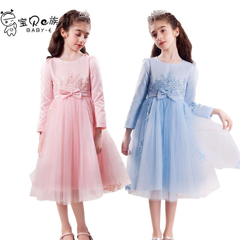 CHILDREN'S Dress Princess Dress Girls 2018 Autumn Clothing New Style Long-sleeved Dress Flower Boys/Flower Girls Married Formal