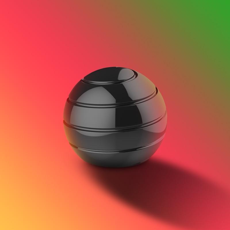 2020 New Desktop Decompression Rotating Spherical Gyroscope Kinetic Fidget Optical Illusion Flowing Finger Adult Desk Toy In Box