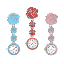 Nurse Watch Chest Pocket Watch Medical Rose Student Cute High-Quality Doctor Clock Brooch Nurse Fob Watch Hospital Gift