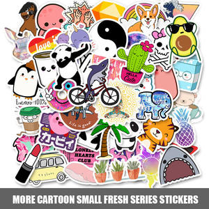 Stickers Decals Bicycle-Helmet Laptop Waterproof Children Cartoon Tablet 50pcs for Toy
