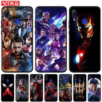 Перейти на Алиэкспресс и купить Чехол Marvel Мстители Железный человек Капитан для Xiao mi Red mi Note K20 7 7A 6 Pro 6A 5A Prime mi 9 9t A1 A2 Lite 4X5 Plus Pocophone F1