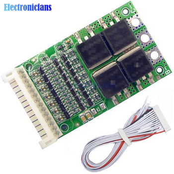 Universal 6S 7S 8S 9S 10S 11S 12S 13S Adjustable BMS Iron Phosphate Lithium Li-ion 18650 Battery Protection Board 25A image