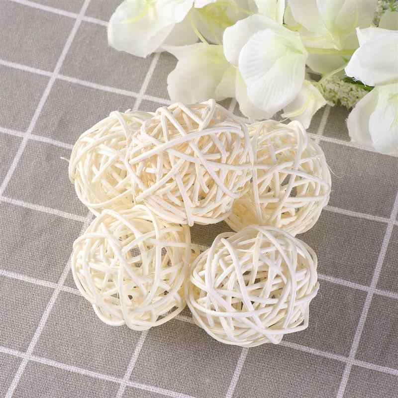15pcs Wicker Rattan Ball Wedding Party Hanging Decoration Baby Shower Rattan Ball DIY Sepak Takraw Balls 3cm 4cm 5cm