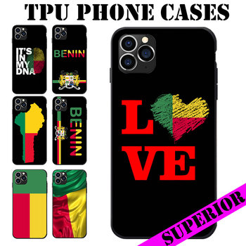 For iPhone 6 7 8 S XR X Plus 11 Pro Max Benin Flag Coat Of Arms Theme Soft TPU Phone Cases image