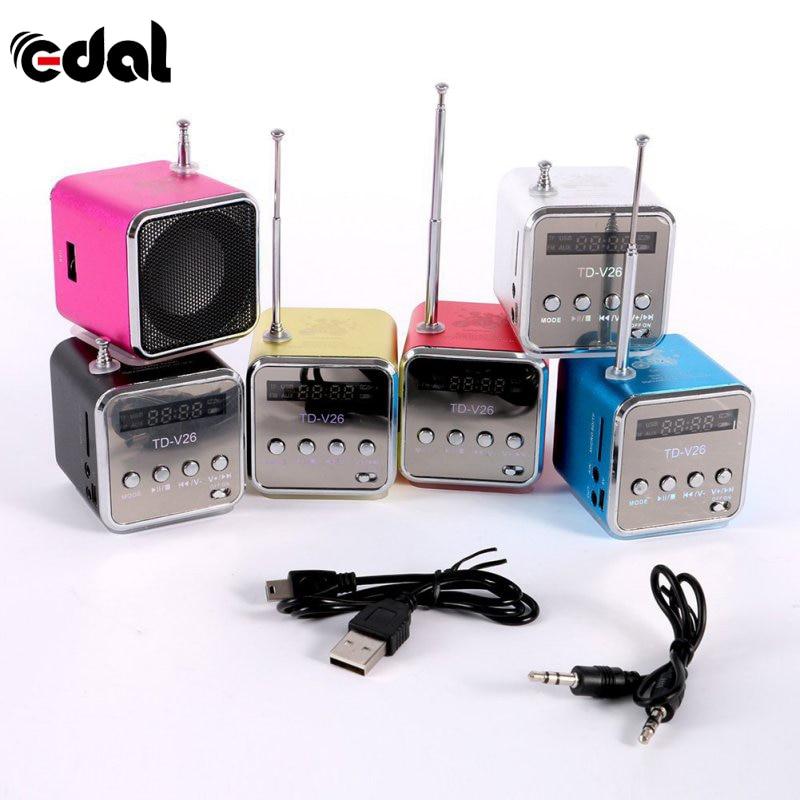 18 EDAL Portable Micro USB Mini Stereo Super Bass Speaker Music MP3/4 FM Radio 6 Colors New