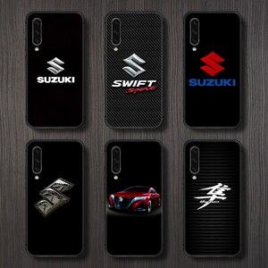 SUZUKI Car logo Phone Case Cover For Samsung Galaxy A10 A20 A30 E A40 A50 A51 A70 A71 J 5 6 7 8 S black Etui trend prime tpu