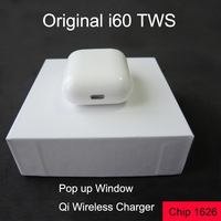 Pop up Window i60 tws Bluetooth Earphone Mini Wireless charging Earphones PK i10 i30 i80 i200 tws Bluetooth 5.0 Stereo Bass