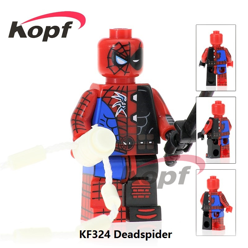 Super Heroes Ghostface Ghost-Face Two Face Deadpool Spiderman Spider-man Deadspider Building Blocks Children Gift Toys KF324