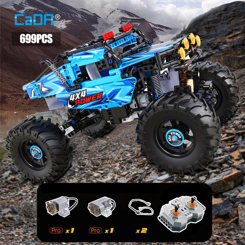 Cada 4WD Off road Remote Control Car Building Blocks City Technical Racing Car RC Buggy Trucks SUV Pickup Bricks Toys for boys