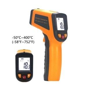 Image 4 - Инфракрасный термометр лазерный пирометр 400C 750C 950C Бесконтактный ЖК ИК термометр пистолет точечный измеритель температуры подсветка