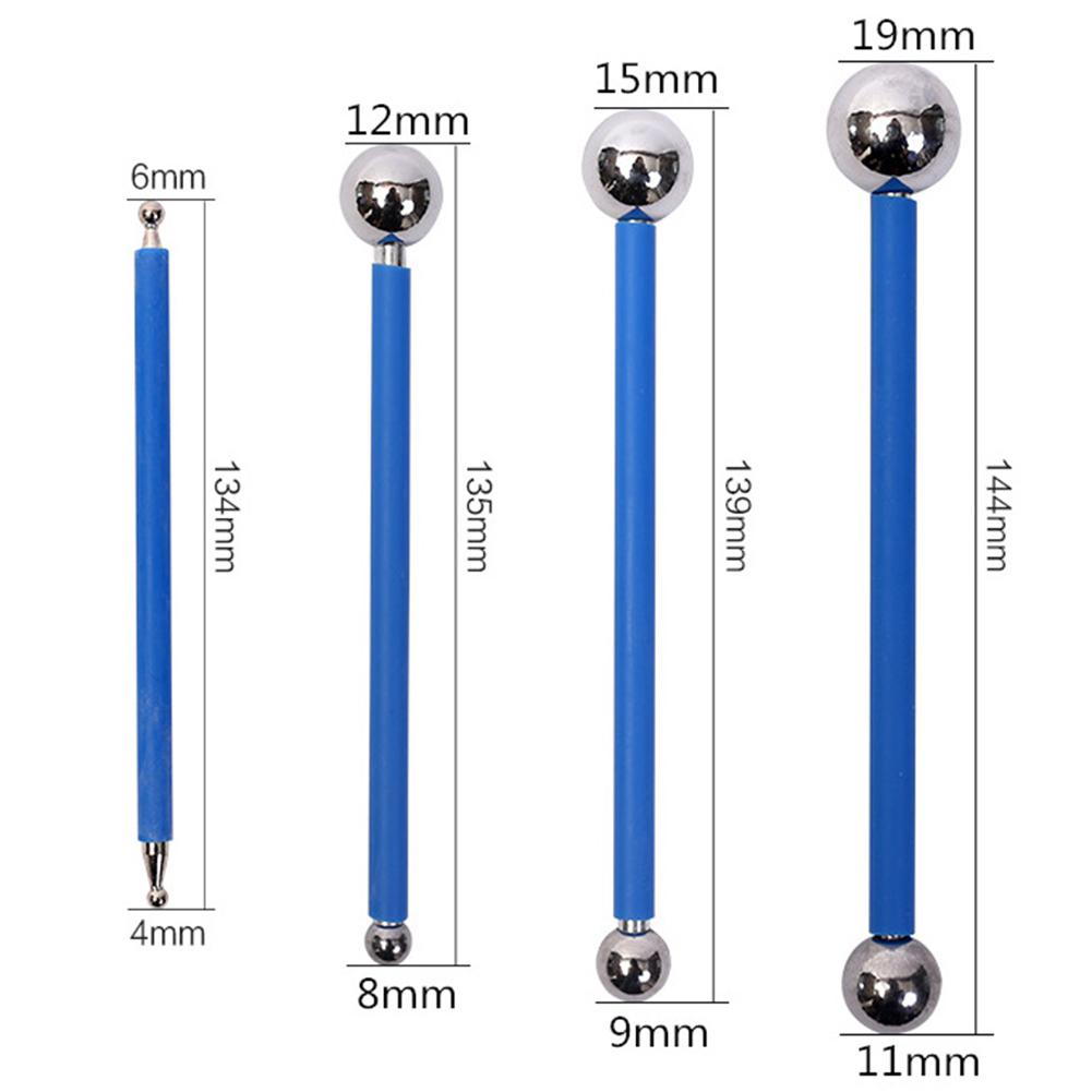 4pcs Double Steel Pressed Ball Tile Grout Tools Stainless Steel Repairing Stick Ceramic Floor Grouting Glue Gaps Scraping Tools