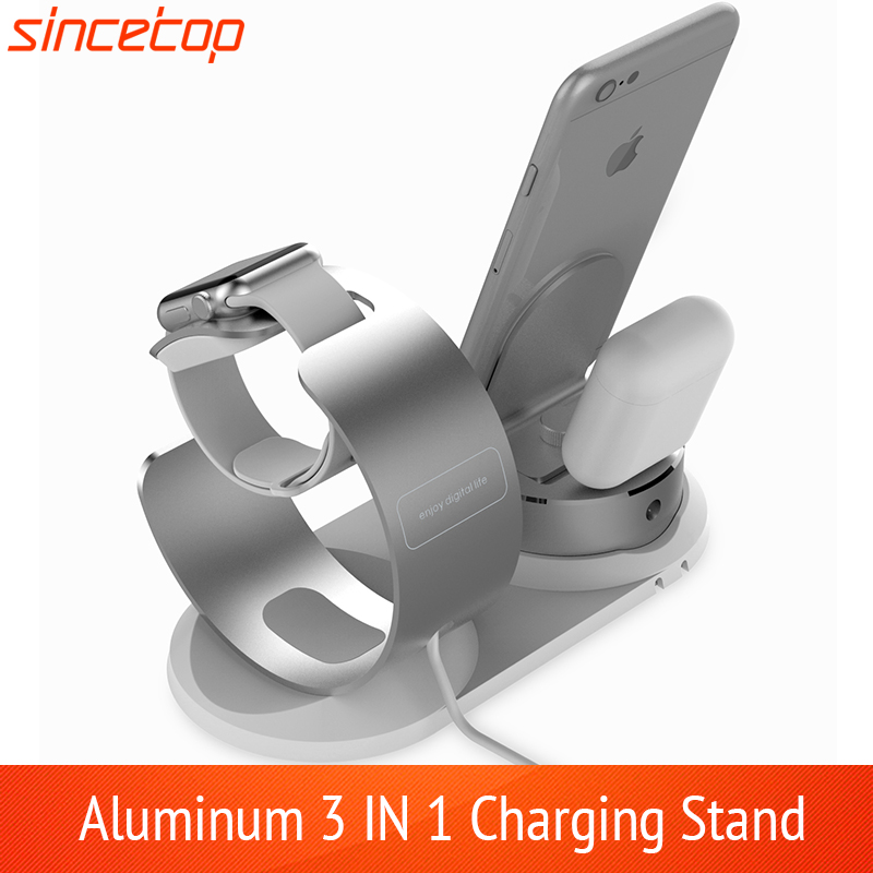Adjustable Desk charge phone Holder For Apple watch stand table Charging Dock Station base for iPhone 8 <font><b>Charger</b></font> support image