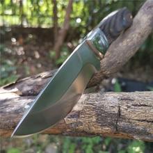 57hrc 8cr13mov lâmina fixa faca bushcraft facas em linha reta tático bom para a caça acampamento sobrevivência ao ar livre transportar todos os dias