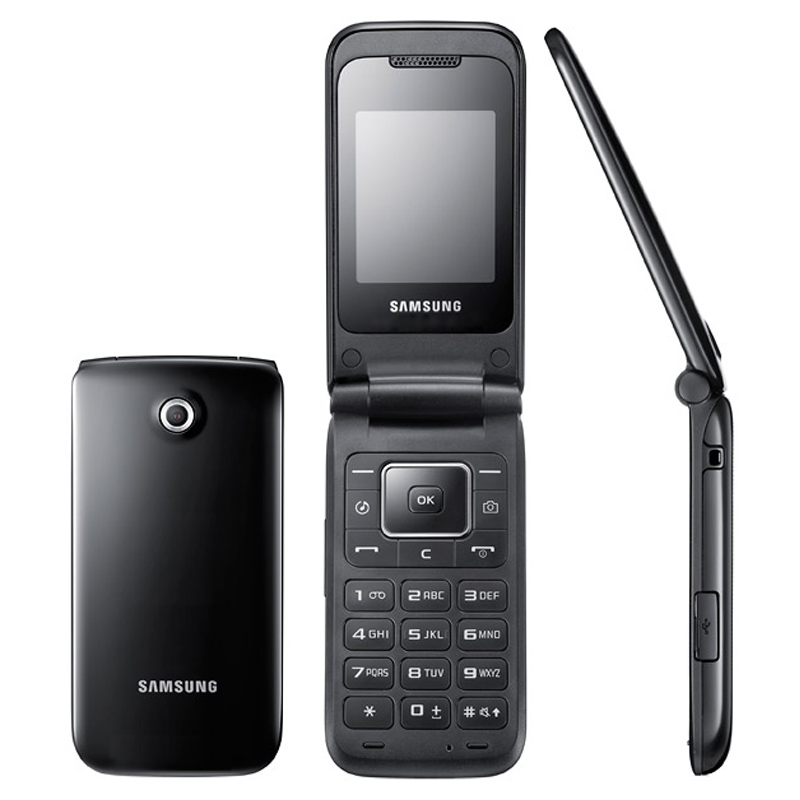 """Unlocked Samsung E2530 2G GSM Mobile Phone 2.0"""" In 1.3MP Up to 8 GB Memory"""