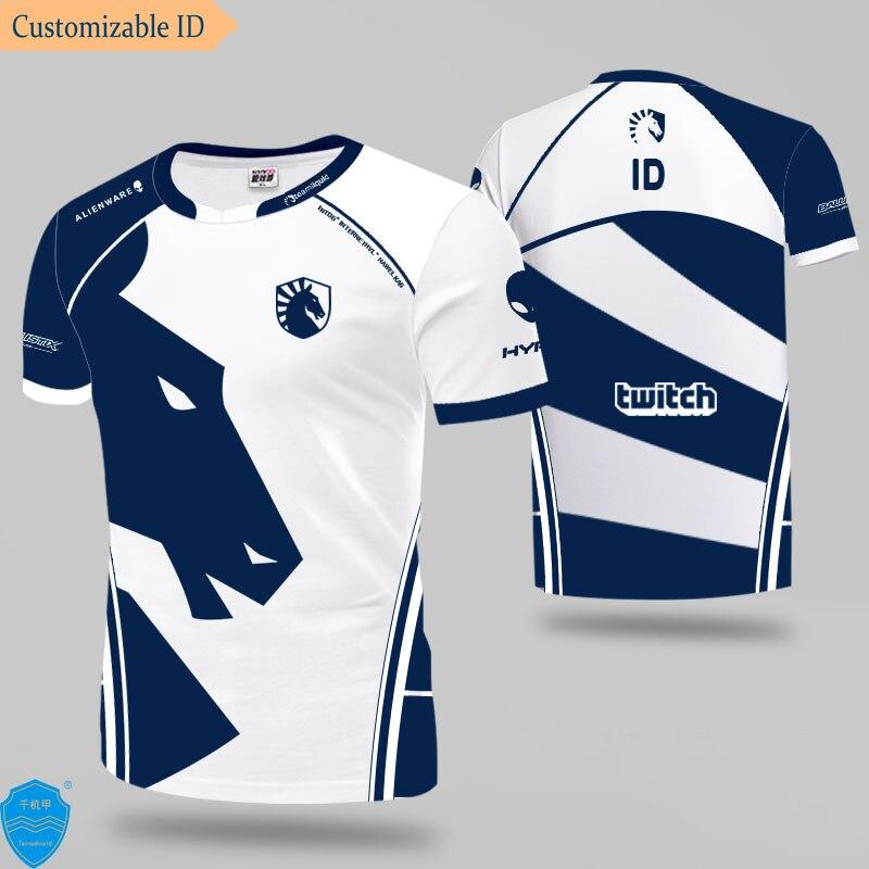 Dota2 CSGO LoL LCS Team Liquid Uniform Jersey Tshirt T-shirt Men Women Miracle T Shirts Custom ID Fans Tee Shirt