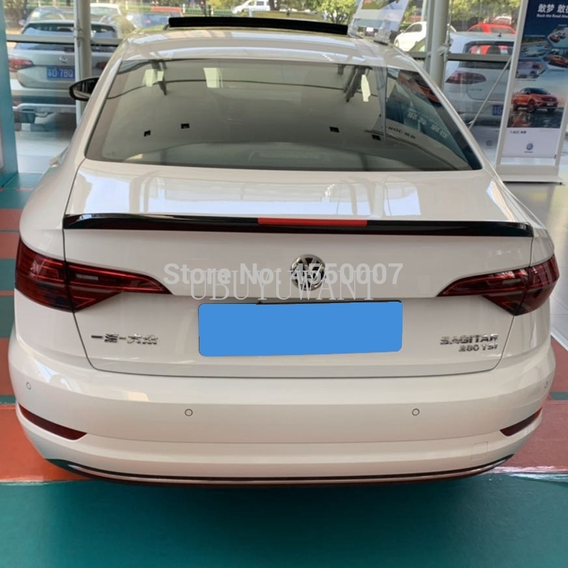 For VW Jetta Spoiler High Quality ABS Material Car Rear Wing Primer Color Rear Spoiler For Volkswagen Jetta sports Spoiler 19(China)