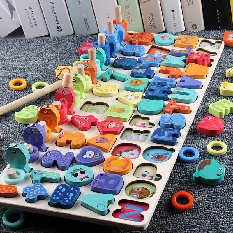 Новые дошкольные деревянные игрушки Монтессори, геометрическая форма, развивающая игра, Обучающие математические игрушки для детей|Игрушки для счета|   | АлиЭкспресс