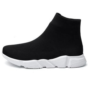 Image 2 - גרבי נעלי ספורט ריצה נעלי גברים עבור מותג חדר כושר ספורט מאמני גדול גודל Zapatillas Hombre Deportiva Chaussure Homme 46 47