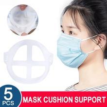 5 sztuk maska uchwyt wielokrotnego użytku pyłoszczelna 3D maska z filtrem non-stick szminka maseczka higieniczna artefakt maska wewnętrzna wkładka uchwyt Dropship tanie tanio Inner Cushion Bracket Mask Bracket about 10 * 10cm Breathable Reusable Dustproof 5Pcs Mask Holder Wholesale Dropshipping