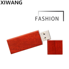 wooden USB flash drive 64gb new fashion gifts pen 32gb pendrive 16gb memory stick 128gb 4GB 8GB with box free custom LOGO