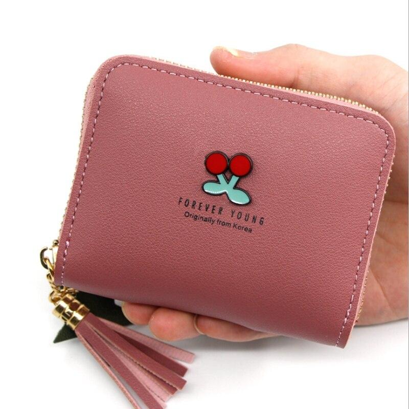 Verlike Women Girl Trifold Cute Bowknot Cartoon Short Wallet Coin Purse Card Holder Bag