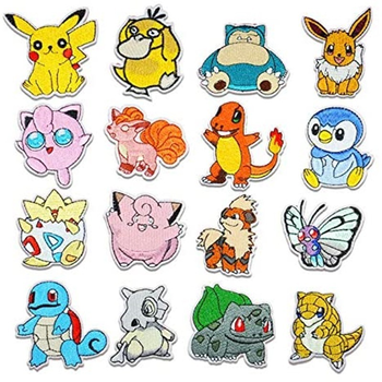 16 sztuk Pokemon tkaniny łatka Pikachu naszywki na ubrania szyć na łaty hafty aplikacja żelazko na odzież Cartoon do ubrania DIY Decor tanie i dobre opinie TAKARA TOMY Model Adult Adolesce MATERNITY W wieku 0-6m 7-12m 13-24m 25-36m 4-6y 7-12y 12 + y 18 + CN (pochodzenie) Unisex