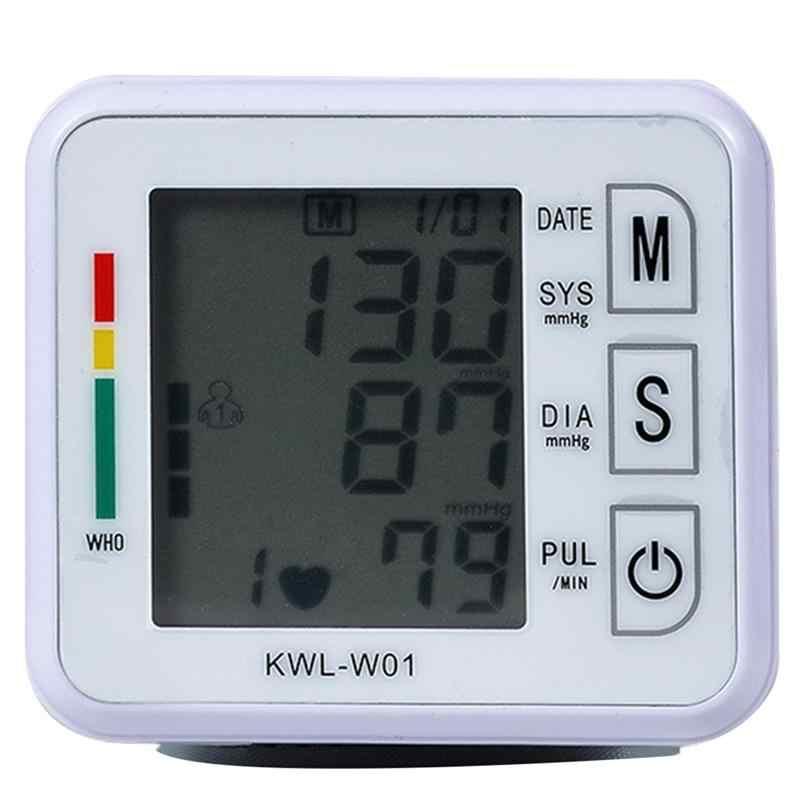 MONITOR Presure เลือดเมตรสำหรับสุขภาพ Home 1 PC Sphygmomanometer แบบพกพา ABS อัตราการเต้นของหัวใจ Sphygmomanometer Tonometer