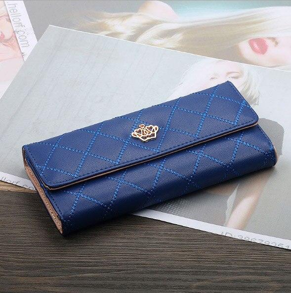 Женский кошелек, сумка для мобильного телефона, фирменный дизайн, Женский кошелек из искусственной кожи, длинные женские кошельки и кошельки, женский тонкий держатель для карт, кошелек - Цвет: 2royal blue