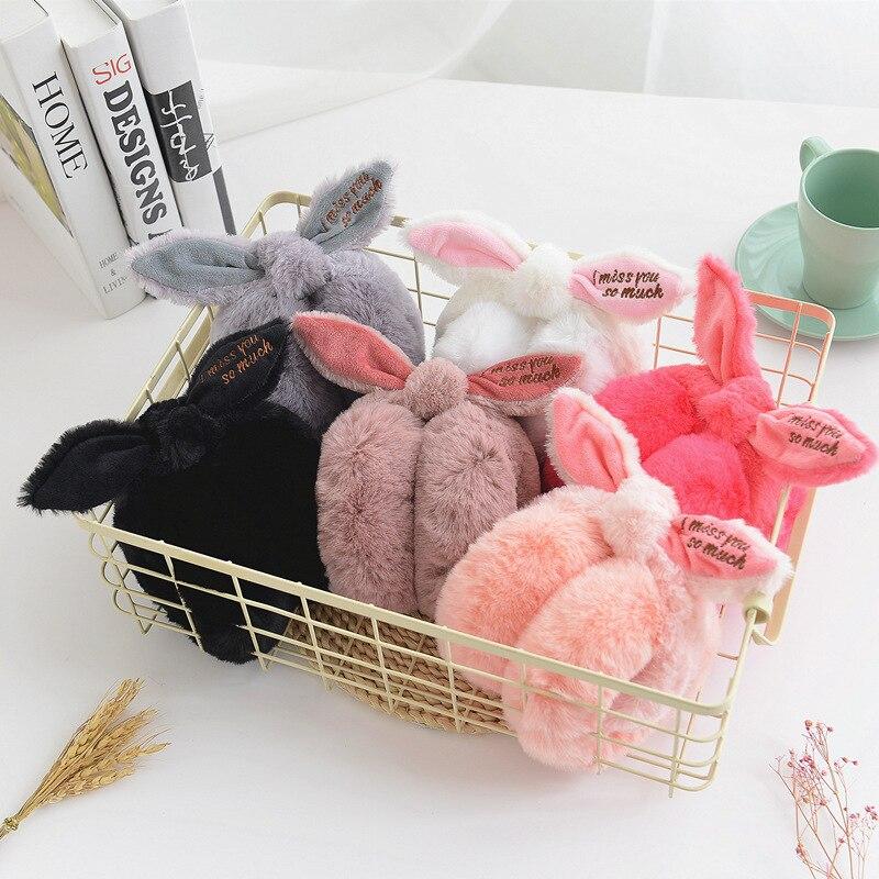 Cute Bunny Fur Winter Earmuffs Ear Warmers Winter Comfort Earmuffs Warm Winter Earmuffs For Women Girls