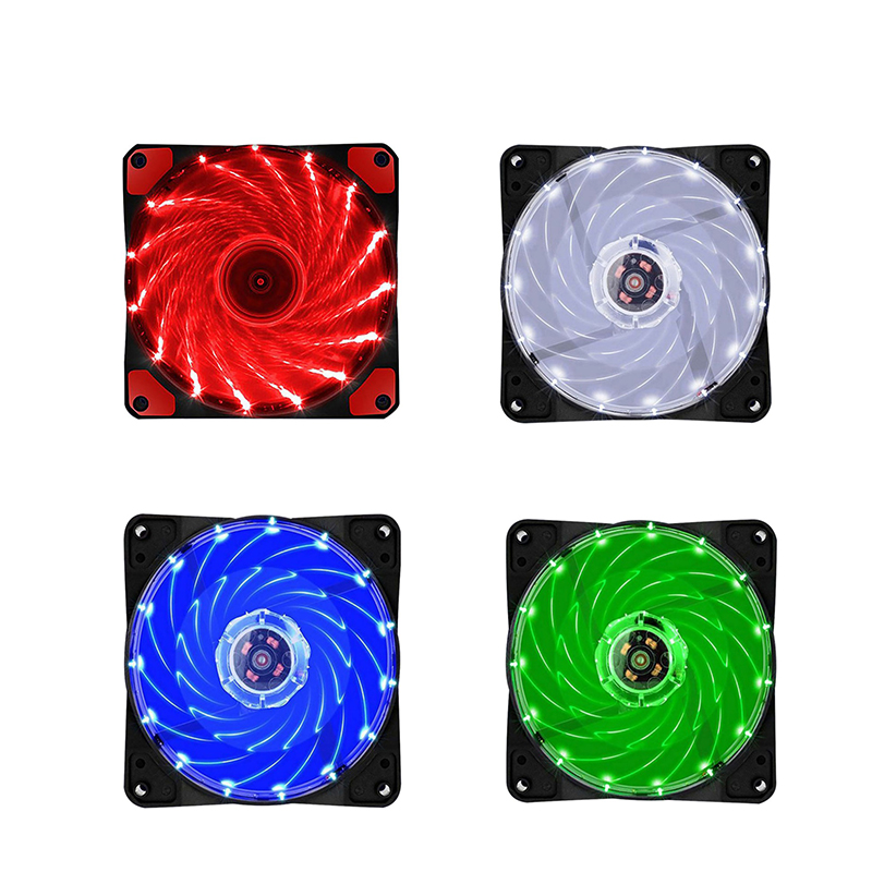 Computer 120mm LED Fan <font><b>120</b></font> MM Fan Ring Guide Light Blue Red Green High Quality Computer Cooling fan <font><b>cooler</b></font> For CPU LED Light image