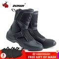 DUHAN/Мужские ботинки в байкерском стиле; Botas Moto Superfiber; Обувь для мотогонок в байкерском стиле; Ботинки для мотокросса; Bota Motociclista; Цвет Черный