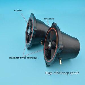 Image 3 - איכות טובה שחור 100mm סילון מים מרפק עם 10mm נירוסטה פיר עבור סירת גלשן Rc דגם סירה