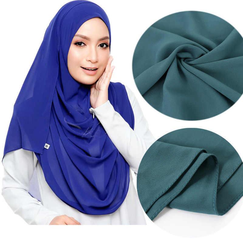 Soft Chiffon Scarf Shawl Wrap Headband Hijabs Scarves Muslim Women Hijab 2019