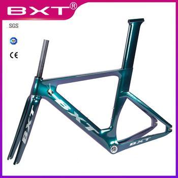 BXT full carbon track frame road  frames fixed gear bike frameset with fork seat post 49/51/54cm carbon Bicycle Parts Frameset 1