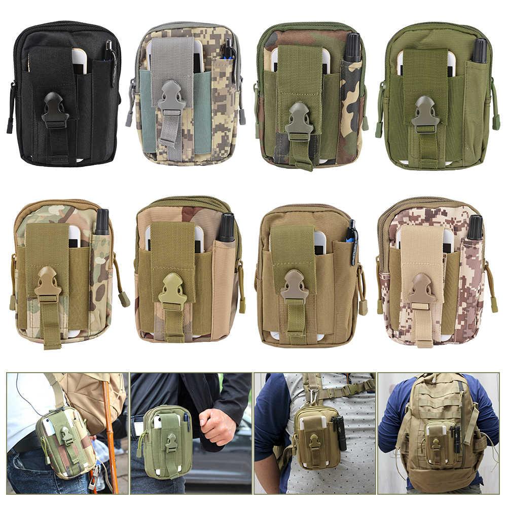 Yeni açık taktik bel çantası erkekler için tırmanma çantası askeri cep bel kemeri ile cep telefonu kılıf tutucu kamuflaj cepler