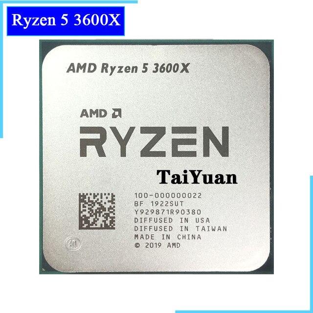 AMD Ryzen 5 3600X R5 3600 × 3.8 Ghz の 6 コア Twelve スレッド CPU プロセッサ 7NM 95 ワット l3 = 32 メートル 100 000000022 ソケット AM4