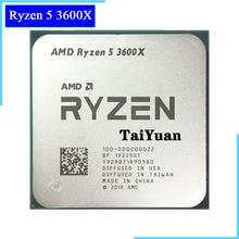 AMD procesador de CPU AMD Ryzen 5 3600X R5 3600X 3,8 GHz, seis núcleos, 12 hilos, 7NM 95W L3 = 32M, 100 000000022 Socket AM4