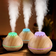 EASEHOLD 150ml Aroma Essential Oil Diffuser Ultrasonic Air Humidifier with Wood Grain 7 Color Changes LED Lights for Office Home