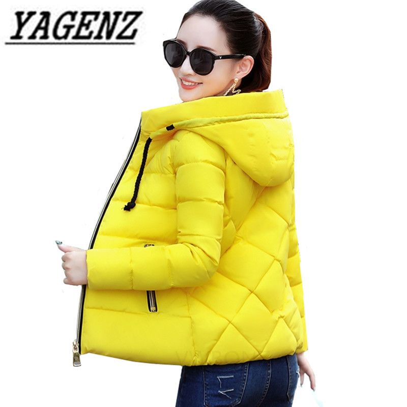 2019 Winter Jacket Women Plus Size Womens Parkas Warm Outerwear Solid Hooded Coats Short Female Slim Cotton Padded Casual Tops