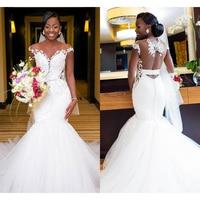 Perfect Mermaid Wedding Dresses 2019 Robe De Soiree Appliques Africa Bridal Gown Elegant Custom made vestido de noiva