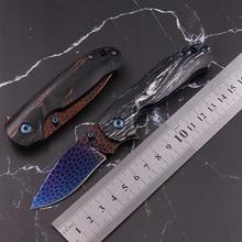 Coltello in acciaio di damasco in scala di drago coltelli da demolizione EDC express coltello da frutta pieghevole ad alta durezza portatile ad alta durezza