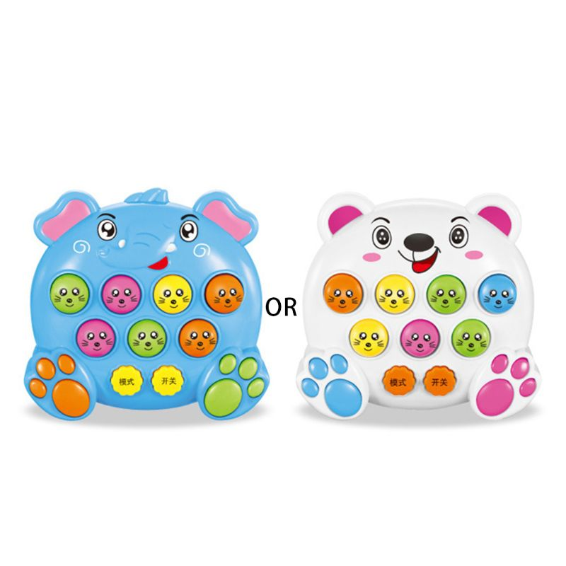 Baby Kids Music Playing Knock Hit Hamster Game Playing Children Instrument Early Educational Toy E65D