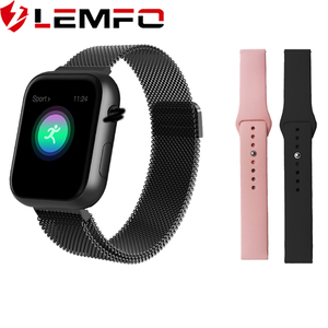 Image 1 - LEMFO 2019 Hot Sale Smart Watch Heart Rate Blood Pressure Monitor Smart Watch Women Smartwatch Men 4 for Apple IOS Android Phone