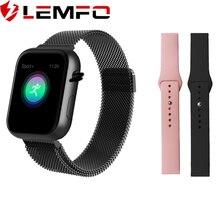 LEMFO 2019 sıcak satış akıllı saat kalp hızı kan basıncı monitör akıllı saat kadın Smartwatch erkekler 4 Apple IOS Android telefon için
