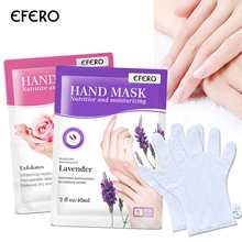 EFERO 2pcs Skin Care Exfoliating Hand Mask Soften Skin White Moisturize Hand Cream Anti-drying Moisturizing Gloves Spa Gloves 4 colors gel spa silicone gloves soften whiten exfoliating moisturizing treatment hand mask care repair hand beauty tools new